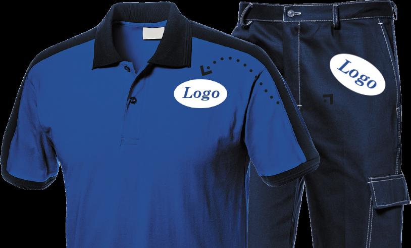 Stampa personalizzata su abiti da lavoro