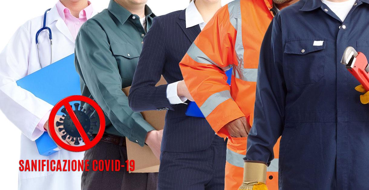 Lavaggio, noleggio e sanificazione covid-19 abiti lavoro