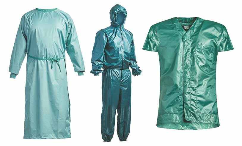Abbigliamento sanitario per blocco operatorio