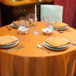 Tovagliato a noleggio per ristorante arancio raso