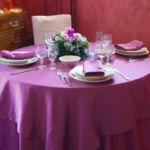 Tovagliato a noleggio per ristorante Capri vinaccia